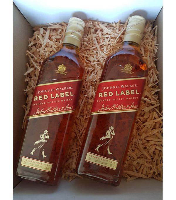 Caja de Regalo 2 Whisky Johnnie Walker - Red Label